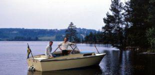 Motorbåt på Ärran 1975