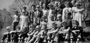 Fröskogs skola klass 5 och 6 1954